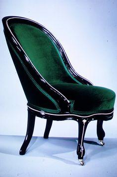 Slipper Chair  Alexander Roux (1813–1886)  Date: ca. 1860 Geography: Mid-Atlantic, New York City, New York, United States Culture: American Medium: Maple, brass