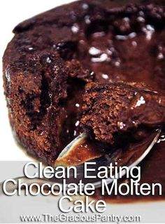 clean eating chocolate molten cake