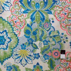 Victoria and Albert PWVA008 Garthwaite Damask Teal Fabric by Yard