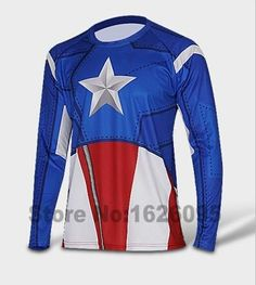 c73cc6920 Comics Superhero Quick Drying Fitness T-shirt Costume. Cycling  OutfitCycling WearCycling ...