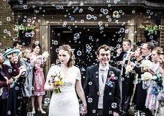 24 Non-Traditional Wedding Send-Off Ideas via Brit + Co. wedding photos 10 Non-Traditional Wedding Send-Off Ideas Wedding Send Off, Wedding Exits, Wedding Bells, Wedding Ceremony, Dream Wedding, Wedding Day, Wedding Church, Eco Wedding Ideas, Wedding Rings