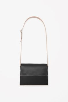 Contrast leather bag