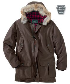0715023cab Men s Arctic Down Parka in Dark Wood by WOOLRICH® The Original Outdoor  Clothing Company Beard