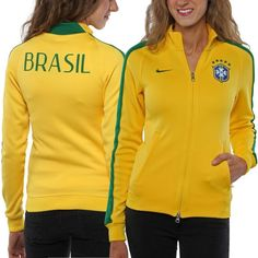Nike Brazil Womens N98 Authentic Track Jacket - Gold - $49.99