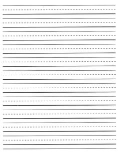 10 Best Kindergarten lined paper images | Preschool, School ...