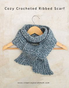 Crocheting a luxurious looking ribbed scarf for a man or boy in your life can be oh so simple with the right yarn and one very simple crocheting technique that you may not have tried. What might that be you...