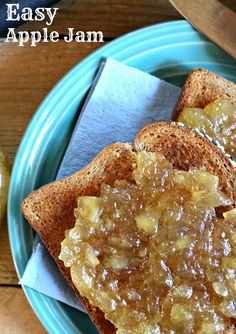 This apple jam is SO EASY to make and so delicious! Click to find out which three ingredients make up this delicious apple jam!