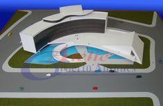 Projeto: Tribunal de Contas do Estado de Roraima / RR / Brasil - Autor: Arquiteto Oscar Niemeyer - Maquete e foto: Gilberto Antunes - Escala: 1/200