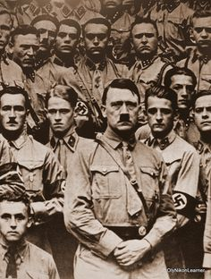 Hitler and SA members (undated, probably 1935)