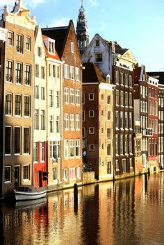 Canal of Amsterdam - been there once and want to go back