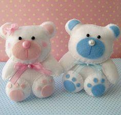 Mais um molde de urso para a gente se inspirar e usar! esse molde serve para lembrancinha de maternidade, para enfeitar o quarto do bebê, ...