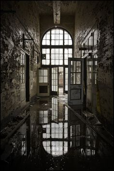 Doorway, abandoned power plant.