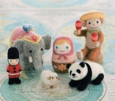 Darling projects from Small World by felt Japanese craft book