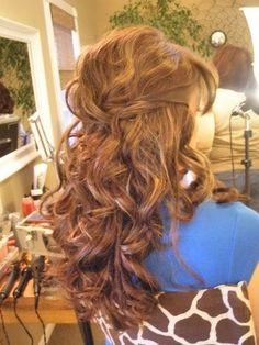 Which Hairstyle do you like and Why? Pic Heavy :  wedding curly hair half up half down Hair 9