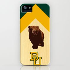 Baylor University - BU logo with bear iPhone Case