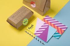 Fonda visual identity, packaging and menus designed by Wildhen Design.