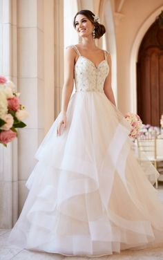 6309 Beaded Lace Wedding Dress with Sweetheart Neckline by Stella York
