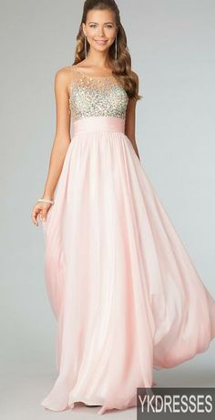 pretty pretty dress, I really love the long pink skirt of this full length gown - Prom Dress Prom Dresses