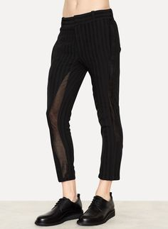 Black Gryphon Trousers Shaft - Ann Demeulemeester