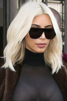 KIM Kim's biggest beauty risk (that totally paid off) of all: platinum hair, debuted at Paris Fashion Week.