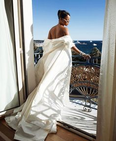 515e4c3fd5 Rihanna in White Dior Gown at the Cannes Film Festival - Rihanna Red Carpet  Dress at