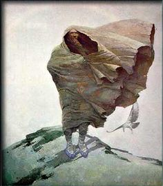 """Latewinter"" - Illustration by N.C. Wyeth"