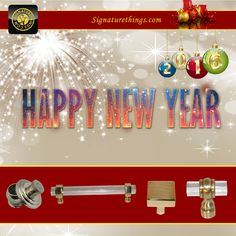 SignatureThings offers a wide range of premium quality Custom Brass Hardware Products in a variety of brass finishes and styles. Happy New Year 2016, New Years 2016, Brass Hardware, Drapery, Decorating Your Home, Cheers, Peace, Contemporary, Unique