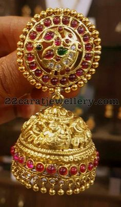 How Sell Gold Jewelry Gold Jhumka Earrings, Jewelry Design Earrings, Gold Earrings Designs, Pendant Jewelry, Jewellery Designs, Jhumka Designs, Gold Choker, Antique Earrings, Necklace Designs