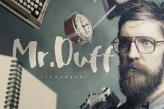 Mr. Duff Typeface by Pere Esquerrà on @creativemarket