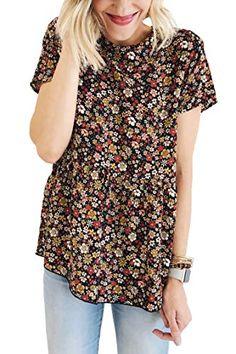 UK Women Check Tantar  V N eck Short Sleeve Loose Tunic Tops Blouse Dress Plus