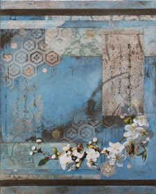 Bee Collage 6 - 76cm x 61cm. Nerina Lascelles: Yūgen