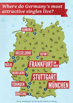Infographic: Where do Germany's most attractive singles live?