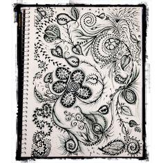 Rococó vintage - material: caneta hidrocor