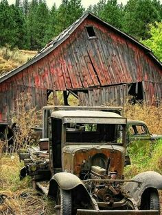 Long forgotten the old barn we took shelter in was slowly disintegrating.