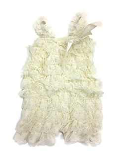 Lace Romper for Babies and Girls Medium Ivory *** Visit the image link more details.