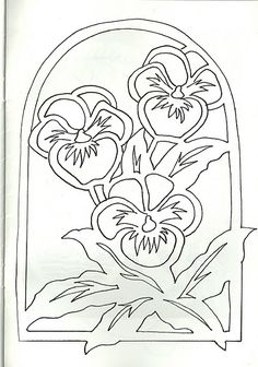 "New Free of Charge Pansies outline Style Pansies include the bright colored bouquets with ""faces."" Some sort of cool-weather popular, pansies are Paper Cutting Patterns, Stencil Patterns, Stencil Designs, Embroidery Patterns, Kirigami, Stencils, Paper Art, Paper Crafts, Parchment Craft"
