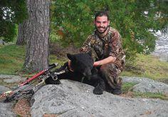 Bear hunter all the way from Australia made his hunt at Lake Herridge Lodge & Resort. Bear Hunting, Australia