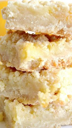 Lemon Crumble Bars Recipe