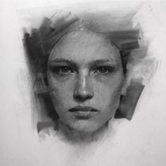 how to draw water Portrait Sketches, Art Drawings Sketches, Pencil Portrait, Portrait Art, Charcoal Portraits, Charcoal Art, Charcoal Drawings, Sketch Painting, Figure Painting