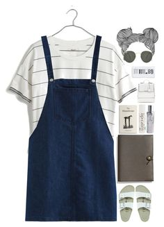 """""""Untitled #698"""" by tara-in-neverland ❤ liked on Polyvore featuring Madewell, Coach, Birkenstock, Ray-Ban, John Masters Organics and Paul's Boutique"""