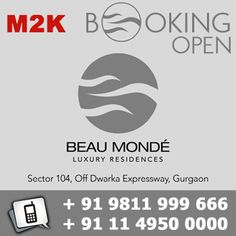 M2K Beau Monde Gurgaon, another landmark in Dwarka Expressway is all set to bring a new lifestyle concept. Your lifestyle will get a boost with stylish 3 and 4 BHK apartments with earthquake resistant structures.