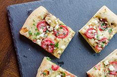 Balsamic Strawberry & Goat Cheese Flatbread. The strawberries get so ...
