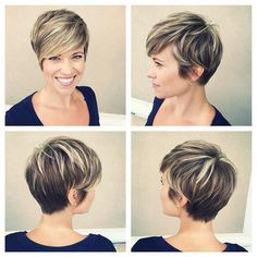 Image result for short dark brown hair with blonde highlights