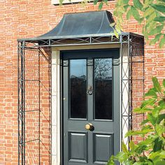 For your front door porch, Garden Requisites offer porch designs in steel. Bespoke metal porches available - Victorian porches and porch canopy designs. Canopy Design, House With Porch, Porch Kits, Victorian Porch, Traditional Porch, Door Canopy Designs, Building A Porch, Porch Canopy, Porch Design
