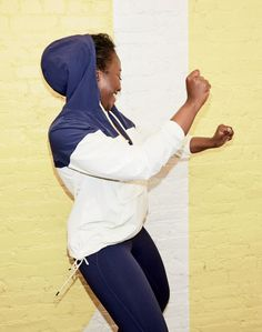 New Balance® for J.Crew essential windbreaker jacket and performance leggings.