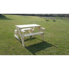 Meble ogrodowe drewniane składane ławko-stół