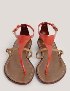 b9f09a504ffc Sergio Rossi Jelly Thong Flat Sandals in Orange (Multi-colour)