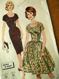 Vntage Butterick Sewing Pattern 2315 Vintage Vogue, Vintage Ladies, Vintage Fashion, Vintage Style, Vintage Dress Patterns, Clothing Patterns, Kids Clothing, Patron Vintage, Dress Card