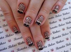New Nails Art Verano Maquillaje Ideas Zebra Nails, Leopard Nails, Toe Nails, French Nail Designs, Toe Nail Designs, New Nail Art, Nail Art Hacks, Fabulous Nails, French Nails