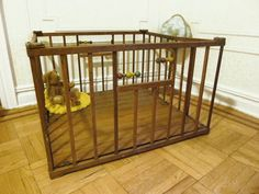 Vintage Foldable Wooden Children's Playpen by evanspicks on Etsy, $100.00